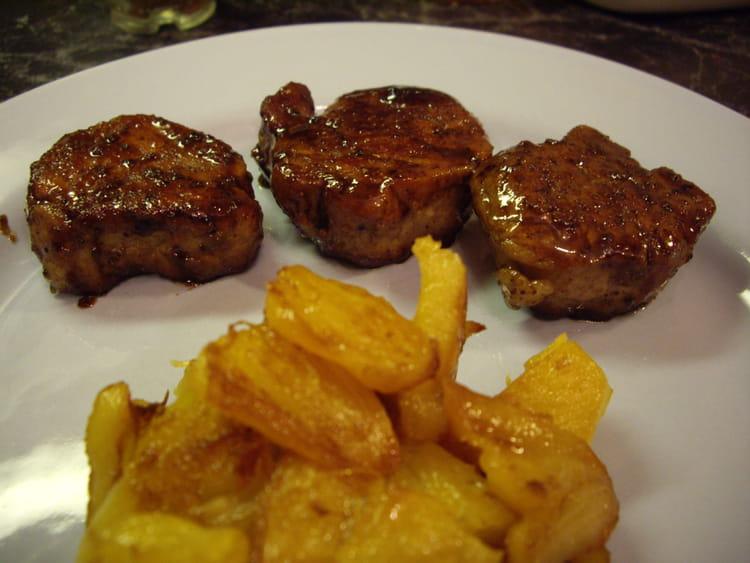 recette de filet mignon laqué au sirop d'érable, ananas poêlé : la