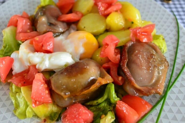 Gésiers et pommes de terre sarladaises