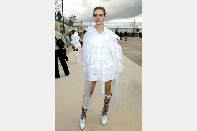 FLOP: Natalia Vodianova en total look blanc