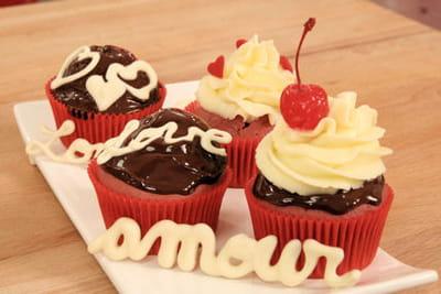 d'adorables cupcakes prêts à être dégustés !