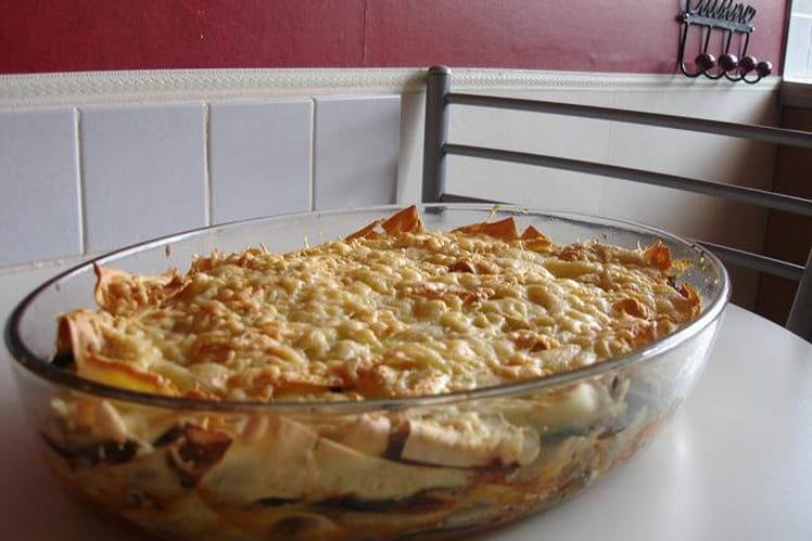 Lasagnes aux courgettes et boeuf haché