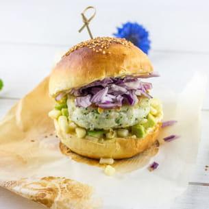 burger marin au cabillaud