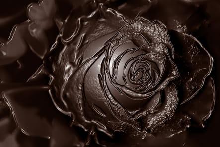 Une rose en chocolat pour séduire sa femme