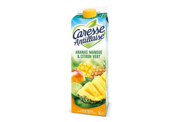 Le jus passion, ananas-coco de Caresse Antillaise