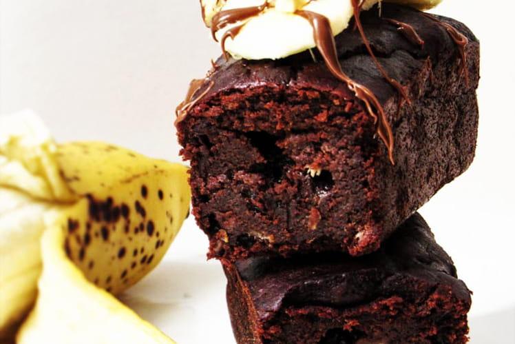 Gâteau à la banane extra chocolaté