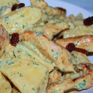 salade de pommes de terre au poulet et curry