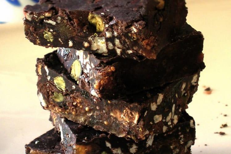 Pavés de chocolat aux fruits secs