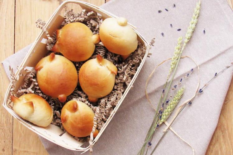 Lapins briochés sans beurre ni oeuf