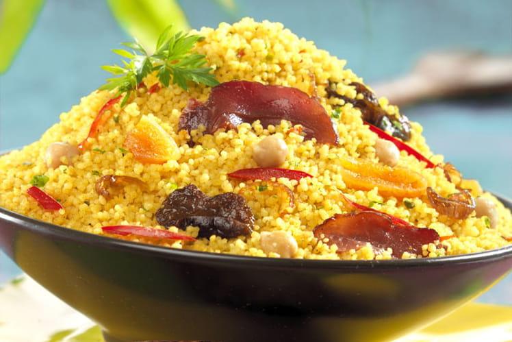 Couscous aux fruits secs et magrets de canard