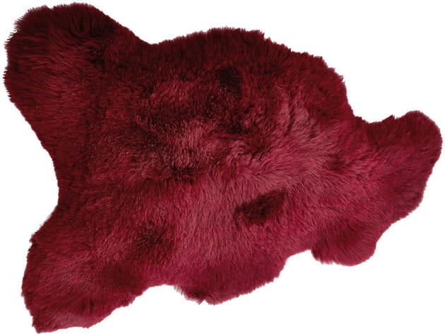 Tapis en peau de mouton coloré Home autour du monde