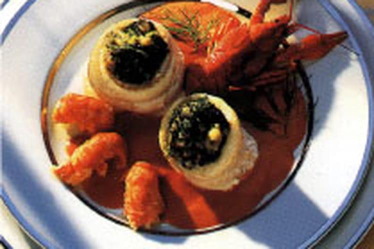 Recette de paupiette de sole aux crevisses la recette - Cuisiner des paupiettes ...