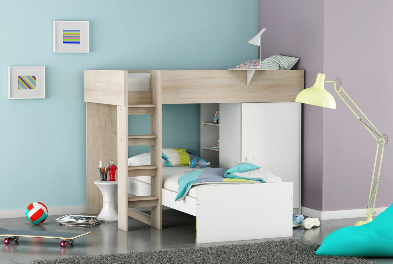 lit dorian de camif. Black Bedroom Furniture Sets. Home Design Ideas