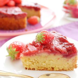 fondant fraise amande, version allégée