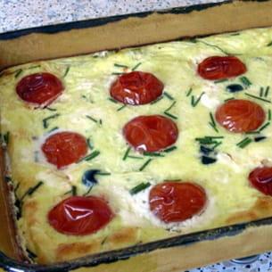 flan aux tomates et fromage de chèvre