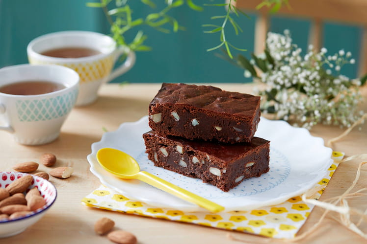 Brownie sans beurre aux amandes Jardin BiO