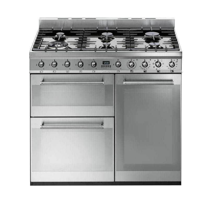 Piano de cuisson sy93 de smeg for Piano de cuisine smeg