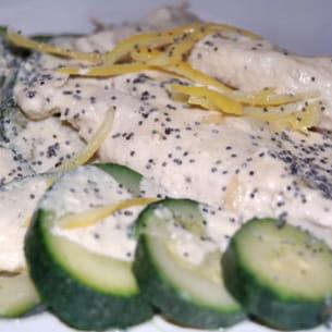 escalope de poulet vapeur-sauce citron
