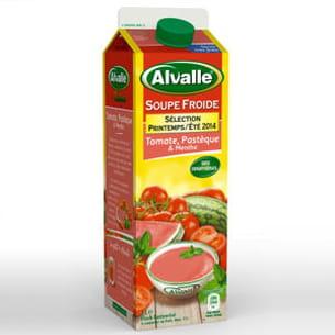 soupe froide tomate, pastèque et menthe d'alvalle