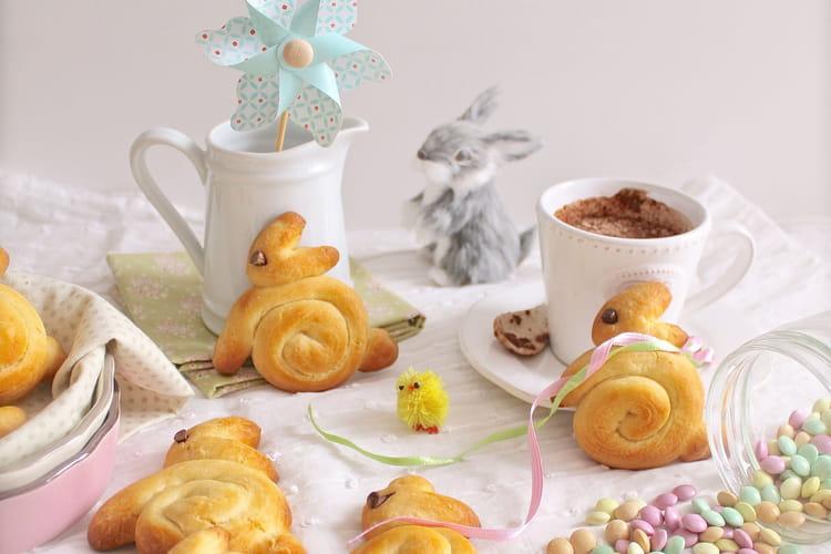 Petits lapins briochés de Pâques sans oeuf, sans lait
