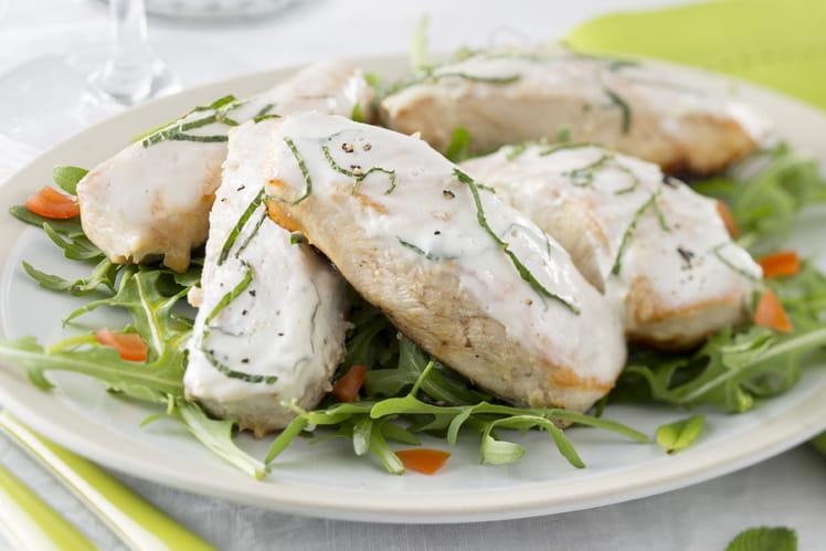Filets de lapin Loeul et Piriot au yaourt et à la menthe