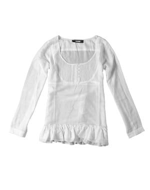 la blouse blanche de bonobo (29,95euros)