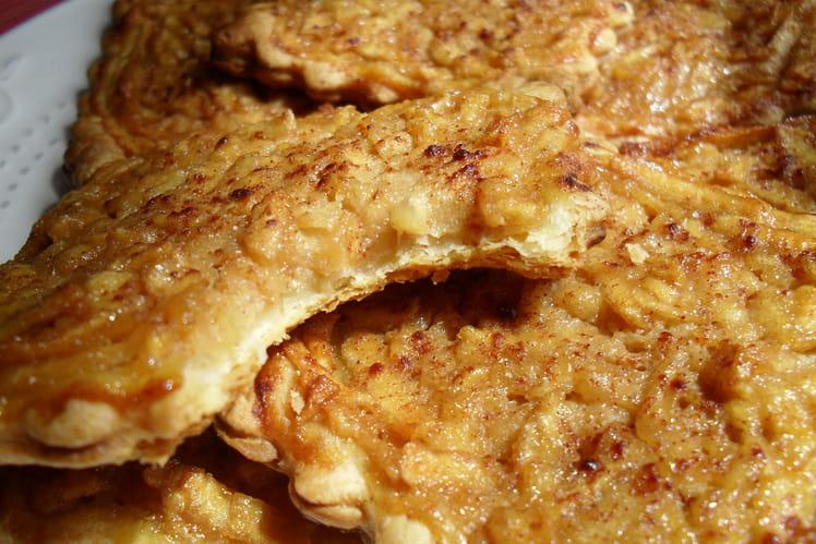 Tartelettes aux pommes à la crème cannelle