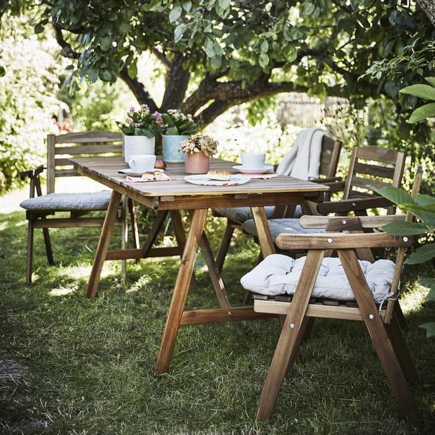 Table et chaises d'extérieur FALHOLMEN IKEA