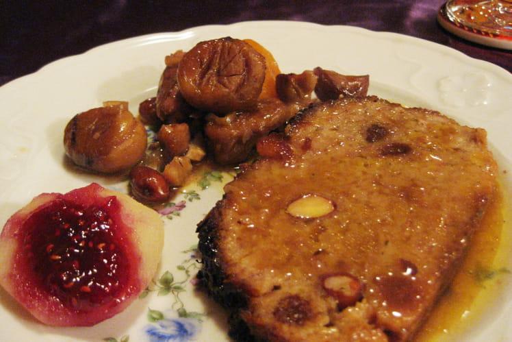 Pain de viande caramélisé aux marrons