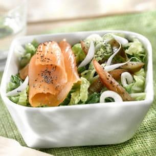 salade de choux et saumon au naturel