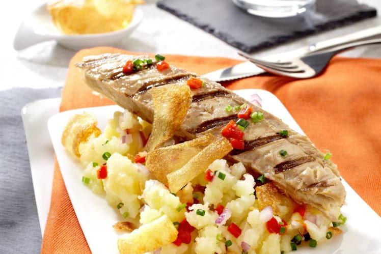 Maquereaux grillés fish and chips