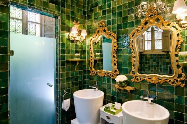La salle de bain de la suite verte