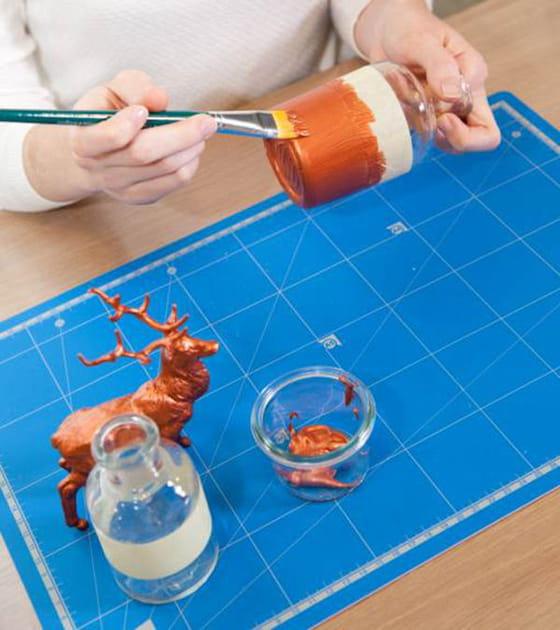 Etape 2: appliquer la peinture cuivrée
