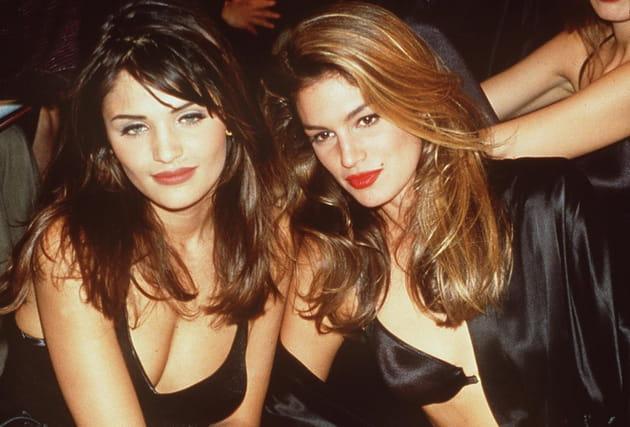 Helena Christensen et Cindy Crawford le 16août 1999
