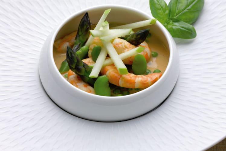 Recette De Grosses Crevettes Dans Un Curry Lait De Coco A La Fine