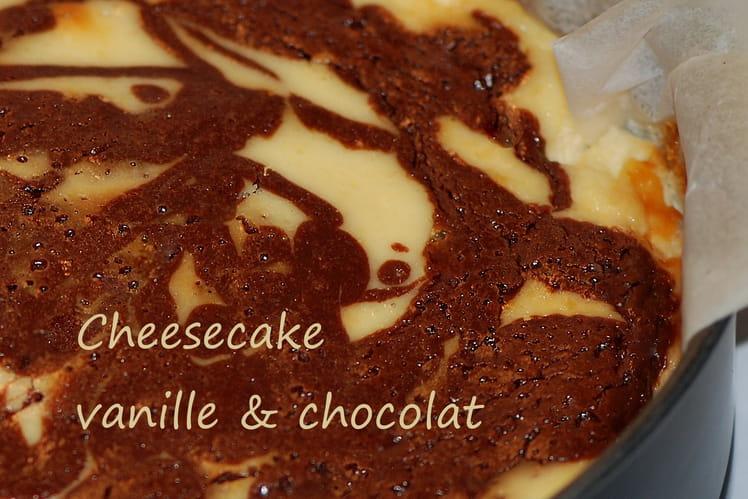 Cheesecake vanille & chocolat