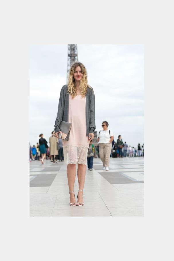 Street looks fashion week haute couture : élégant