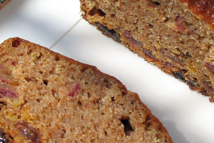 Cake moelleux aux fruits et fibres