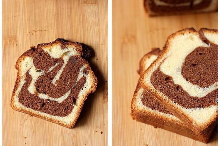 Marbré moelleux au chocolat et à la vanille