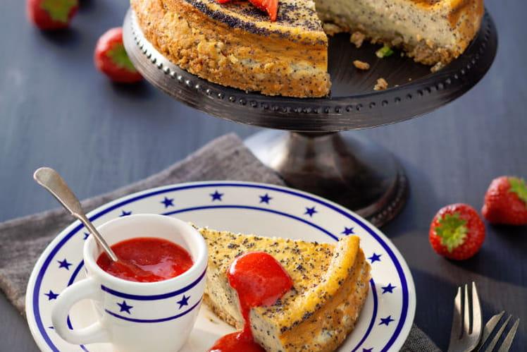 Cheesecake vanille et pavot