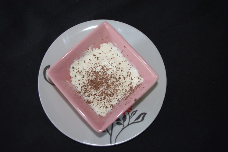 Mousse légère au chocolat blanc