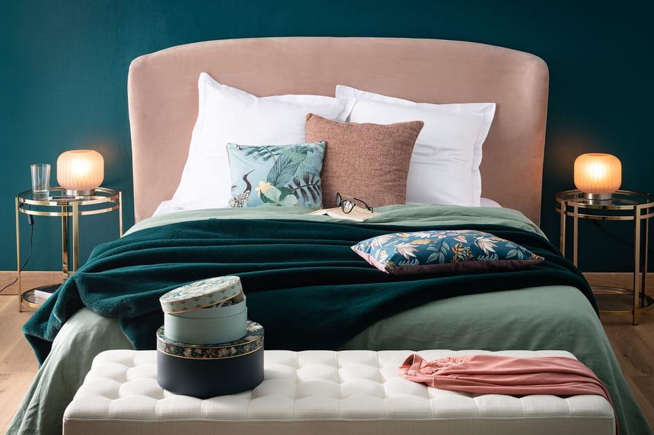 Tête de lit velours Maisons du monde