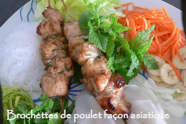 Brochettes de poulet façon asiatique