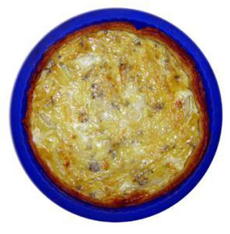 Recette de caroline tarte champignons jambon la recette facile - Recette tarte salee originale ...