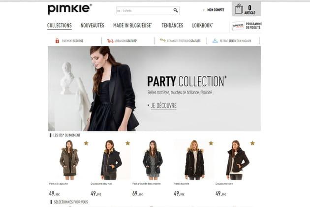 Le e-shop de Pimkie