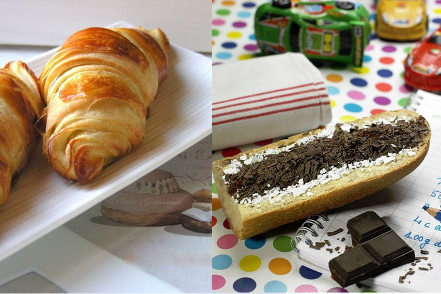 Croissant VS tartines au beurre
