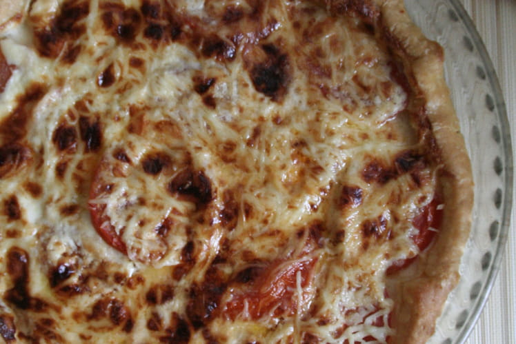 Tarte tomates et crème de parmesan