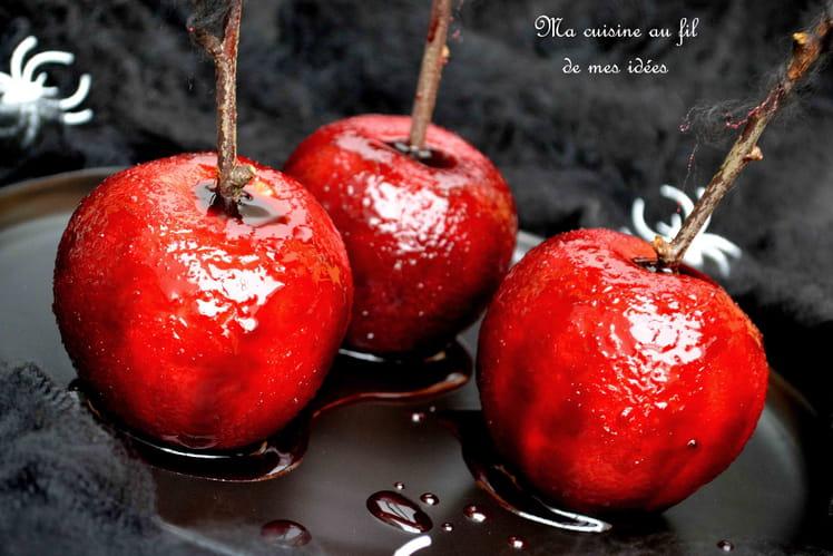Pommes d'amour de sorcière pour Halloween