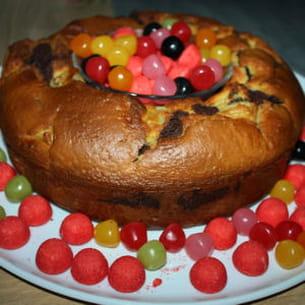gâteau marbré chocolat et poires