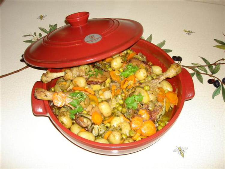 Recette de cuisses de canard et petits l gumes au citron - Cuisiner cuisses de canard ...
