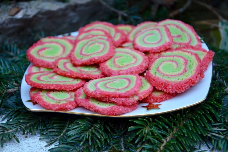 Sablés spirales tricolores de Noël